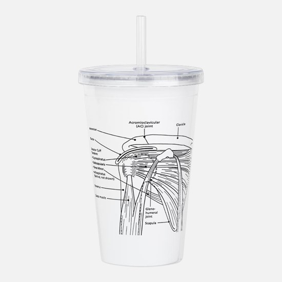 Shoulder Joint Acrylic Double-wall Tumbler