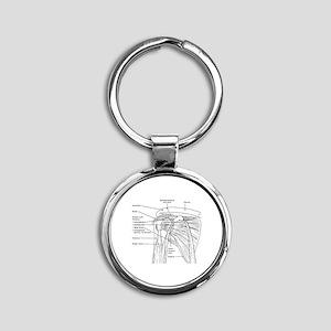 Shoulder Joint Round Keychain