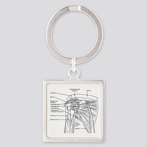 Shoulder Joint Square Keychain