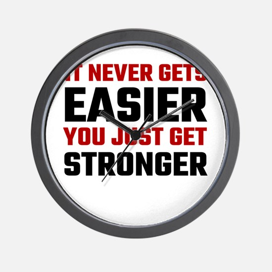 It Never Gets Easier You Just Get Stron Wall Clock