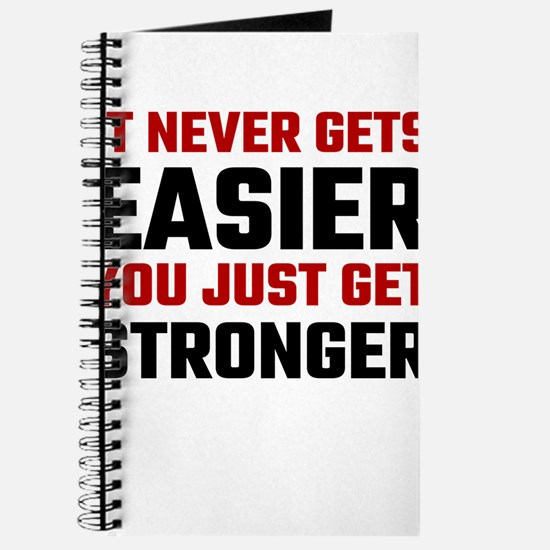 It Never Gets Easier You Just Get Stronger Journal
