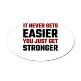 Cross fit Oval Car Magnets