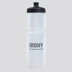 Irony The Opposite Of Wrinkly Sports Bottle