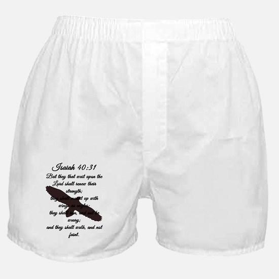 Isaiah 40:31 Boxer Shorts
