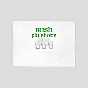 Irish Flu Shots 5'x7'Area Rug