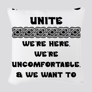 Introverts Unite Woven Throw Pillow