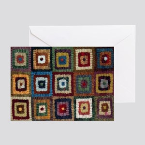 Primitive Hooked Rug Greeting Cards (Pk of 10)