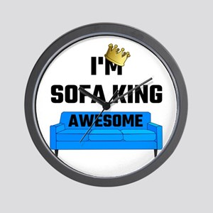I'm Sofa King Awesome Wall Clock