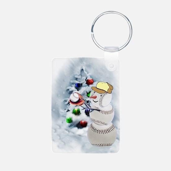 Baseball Snowman xmas Keychains