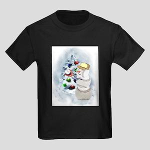 Baseball Snowman xmas T-Shirt
