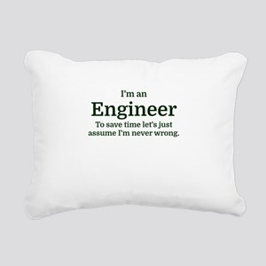 I'm an Engineer To save Rectangular Canvas Pillow