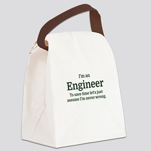 I'm an Engineer To save time Let' Canvas Lunch Bag