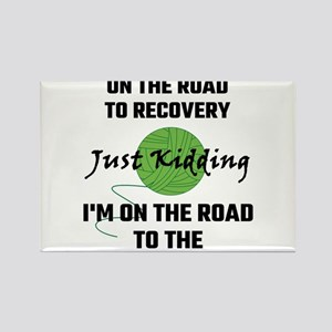 I'm A Yarnaholic On The Road To Recovery Magnets
