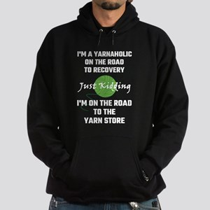 I'm A Yarnaholic On The Road To Reco Hoodie (dark)