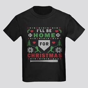 baseball ugly christmas Kids Dark T-Shirt