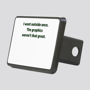 I went outside once. The g Rectangular Hitch Cover