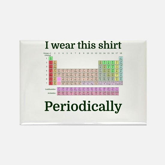 I wear this shirt Periodically Magnets