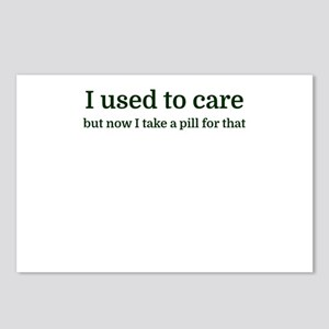 I used to care but now I Postcards (Package of 8)