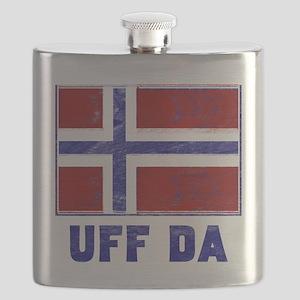 Uff Da Norway Flag Flask