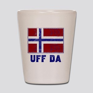 Uff Da Norway Flag Shot Glass