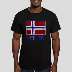 Uff Da Norway Flag Men's Fitted T-Shirt (dark)