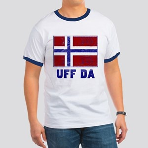 Uff Da Norway Flag Ringer T