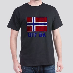 Uff Da Norway Flag Dark T-Shirt