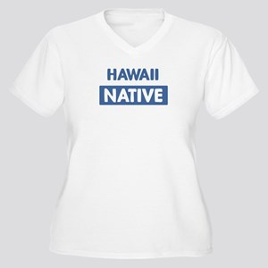 HAWAII native Women's Plus Size V-Neck T-Shirt