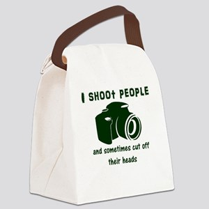 I shoot people and sometimes cut Canvas Lunch Bag