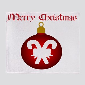 Merry Christmas Candy Candy Throw Blanket