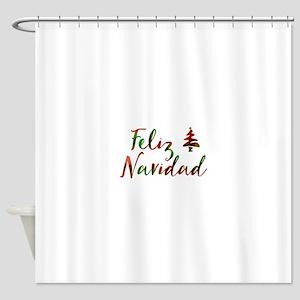 feliz navidad Shower Curtain
