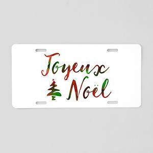 joyeux noel Aluminum License Plate