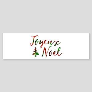 joyeux noel Bumper Sticker