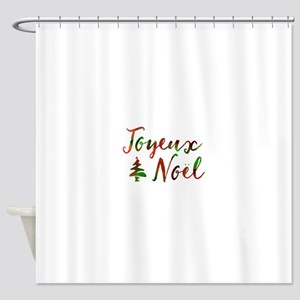 joyeux noel Shower Curtain
