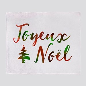 joyeux noel Throw Blanket