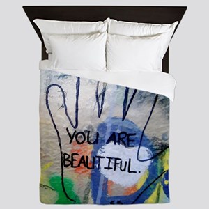 You Are Beautiful Graffiti Queen Duvet