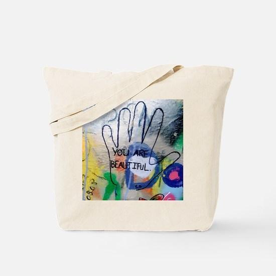 You Are Beautiful Graffiti Tote Bag