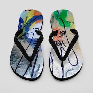 You Are Beautiful Graffiti Flip Flops