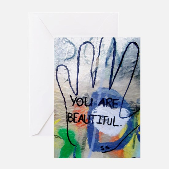 You Are Beautiful Graffiti Greeting Cards