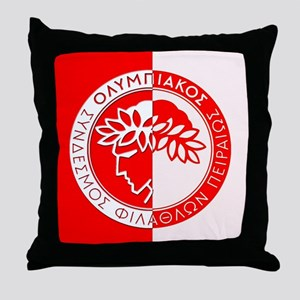 Olympiacos FC 3 Throw Pillow