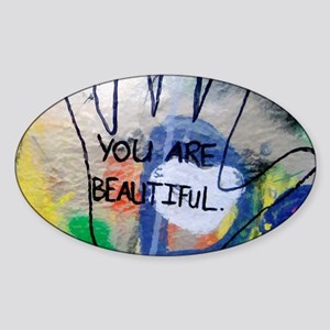 You Are Beautiful Graffiti Sticker