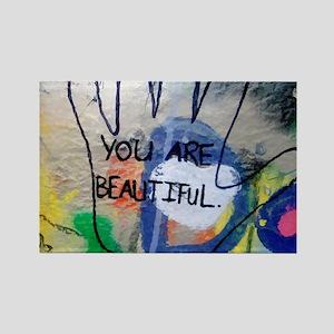 You Are Beautiful Graffiti Magnets