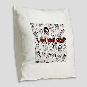 hiphopcards Burlap Throw Pillow