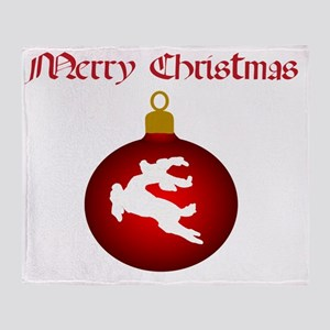 Merry Christmas Deer 2 Throw Blanket