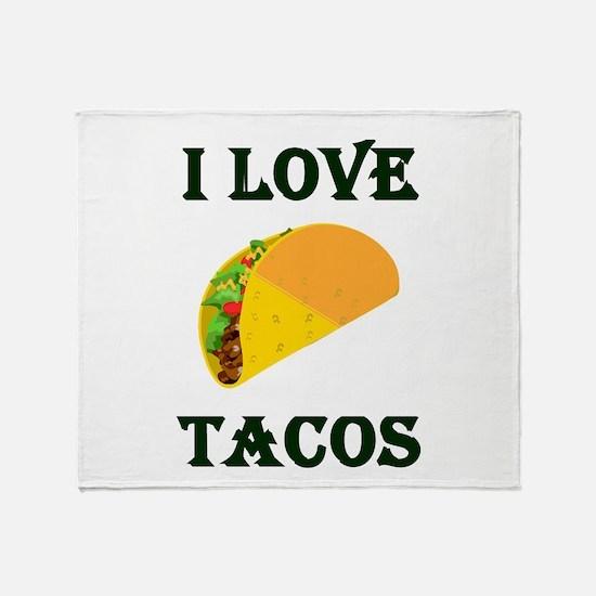 I LOVE TACOS Throw Blanket
