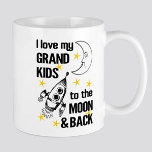 I Love My Grand Kids To The Moon And Back Mugs