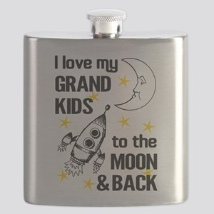 I Love My Grand Kids To The Moon And Back Flask