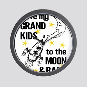 I Love My Grand Kids To The Moon And Ba Wall Clock