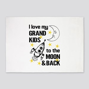 I Love My Grand Kids To The Moon An 5'x7'Area Rug