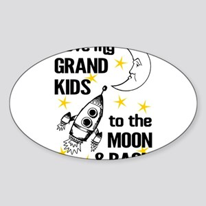 I Love My Grand Kids To The Moon And Back Sticker